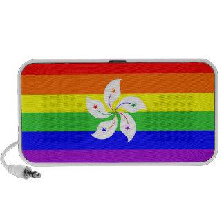 homosexual orgulloso gay de la bandera del arco ir iPod altavoces