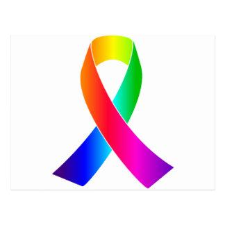 Homosexual y lesbiana de la conciencia de la cinta postal