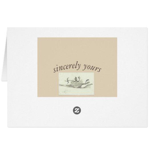 Homw dulce casero tarjeta de felicitación