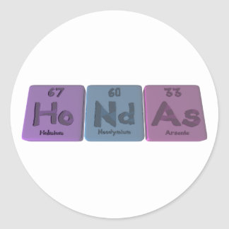 Hondas-Ho-Nd-As-Holmium-Neodymium-Arsenic png Etiqueta