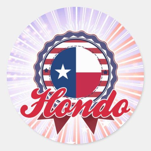 Hondo, TX Pegatina Redonda