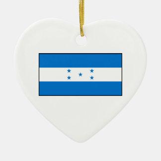 Honduras - bandera del Honduran Ornamento Para Arbol De Navidad