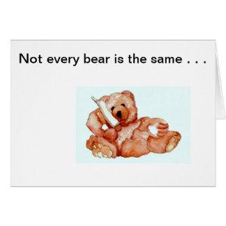 """Honeybear en el teléfono, """"osos de los osos de los tarjeta de felicitación"""