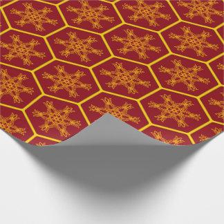 Honeycomb drawing pattern papel de regalo