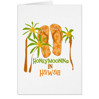 Honeymooning en la tarjeta de Hawaii