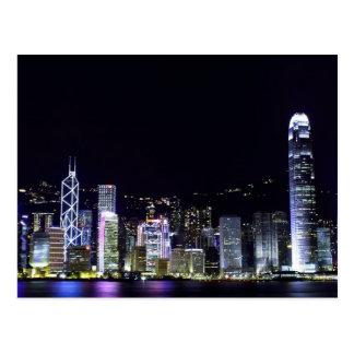 Hong Kong en la postal de la noche
