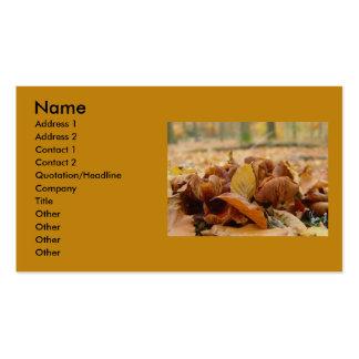 Hongos 1 del bosque plantillas de tarjeta de negocio