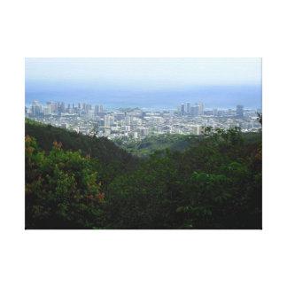 Honolulu Hawaii Lona Envuelta Para Galerias