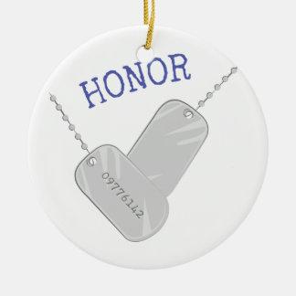 Honor Adorno Redondo De Cerámica