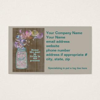 Honor del tarro de albañil el pasado viviendo en tarjeta de negocios