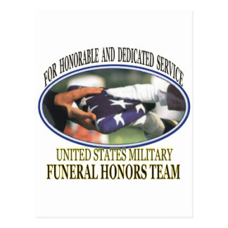 Honores fúnebres militares tarjetas postales