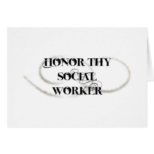 Honre a Thy asistente social Tarjeton