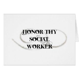Honre a Thy asistente social Tarjeta De Felicitación