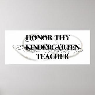 Honre a Thy maestro de jardín de infancia Impresiones