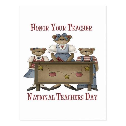 Honre su día nacional de los profesores del profes postal