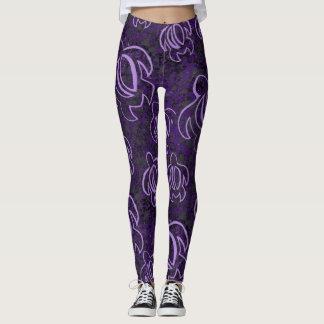 Honu púrpura leggings