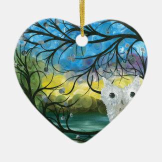 Hoolandia (c) 2013 - serie de las expresiones del adorno navideño de cerámica en forma de corazón