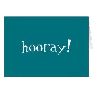¡Hooray! La enhorabuena carda (el espacio en Tarjeta De Felicitación