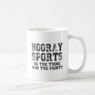Hooray los deportes hacen el triunfo de la cosa taza de café