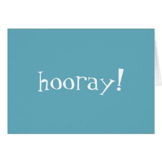 ¡Hooray! Tarjeta de felicitación de la enhorabuena