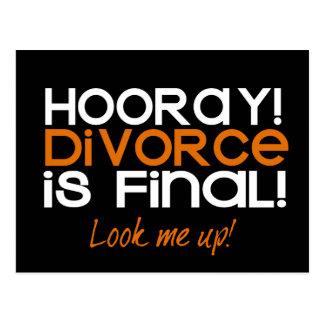 ¡HOORAY! Tarjetas de la invitación del divorcio