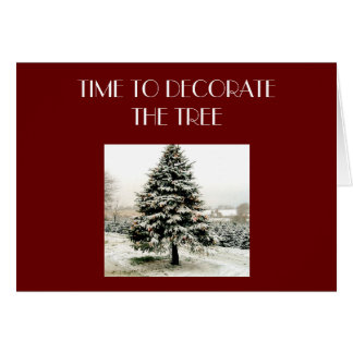HORA DE ADORNAR EL TREE CHRISTMAS TARJETAS