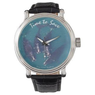 Hora de ahorrar ballenas por RoseWrites Reloj De Pulsera