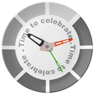 """Hora de celebrar 10,75"""" placa decorativa de la plato de porcelana"""