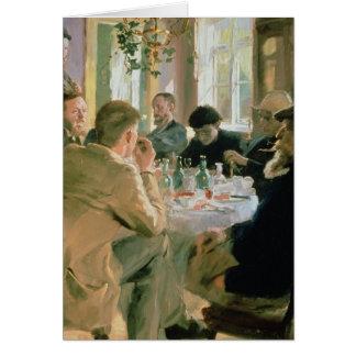 Hora de comer, 1883 tarjeta