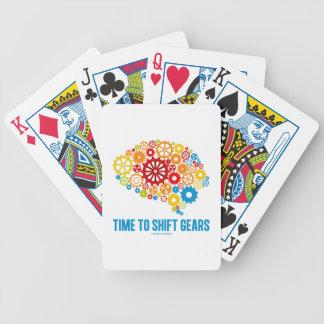 Hora de desplazar los engranajes (cerebro de los cartas de juego