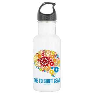 Hora de desplazar los engranajes (cerebro de los botella de agua