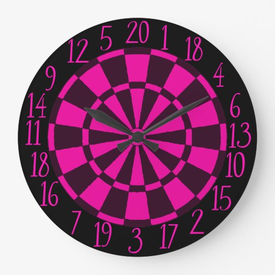 Hora de jugar dardos reloj redondo grande