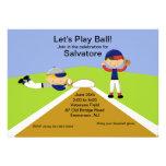 ¡Hora de jugar la bola! Invitación del cumpleaños