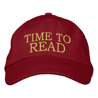 Hora de leer - el casquillo gorra bordada