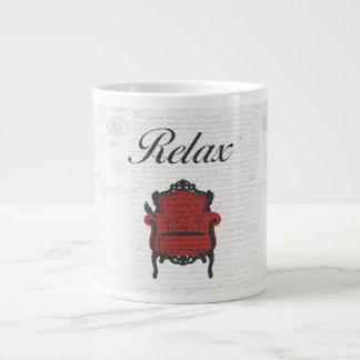 ¡Hora de relajarse! Taza De Café Grande