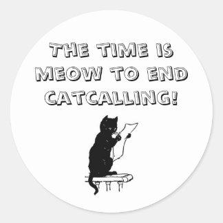 Hora de terminar Catcalling al pegatina