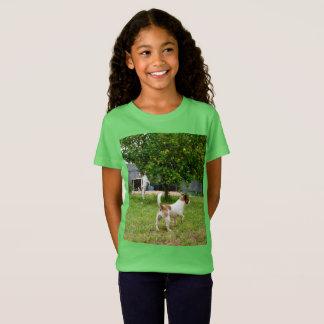 Hora del recreo de los fox terrier, camiseta verde