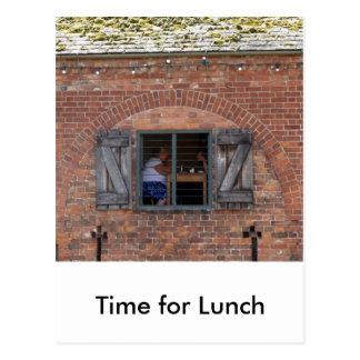 Hora para el almuerzo postal