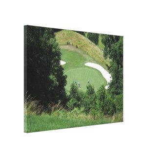 Hora para el golf impresión en tela