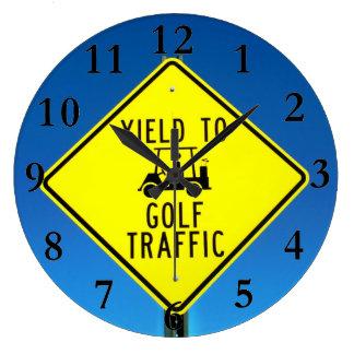 ¡Hora para el golf! Reloj Redondo Grande