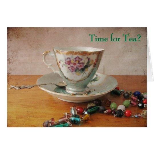 ¿Hora para el té? Tarjeta De Felicitación
