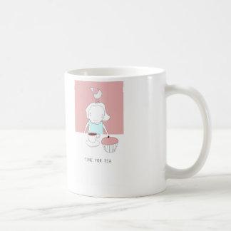 hora para el té taza