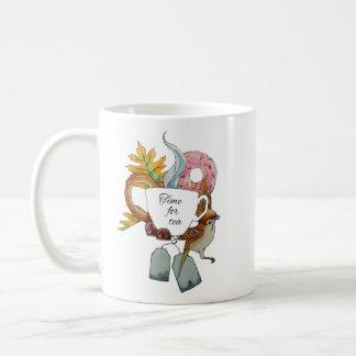hora para el té taza de café