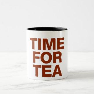 Hora para el té taza de dos tonos