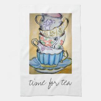 hora para el té toalla de cocina
