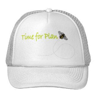 Hora para la abeja del plan gorros bordados
