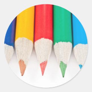 Hora para la creatividad pegatina redonda