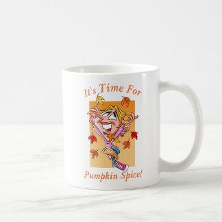 Hora para la especia de la calabaza taza de café