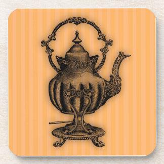 Hora para la tetera del té #7 posavaso