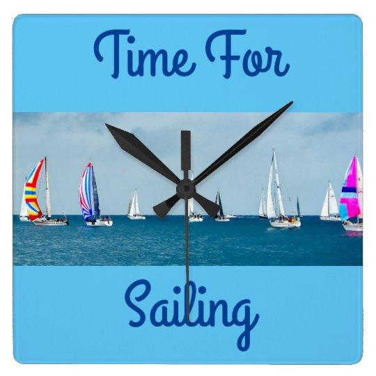 Hora para navegar reloj cuadrado